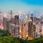 Hong Kong skyline. View from Victoria Peak....