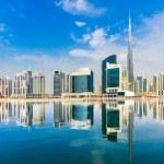 Dubai skyline at dusk, UAE....