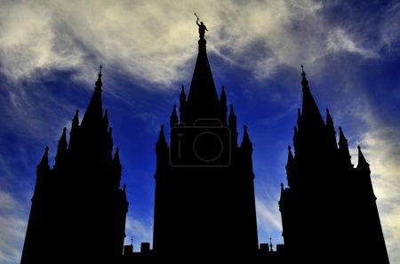 Temple Silhouette Sky