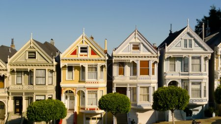 Victorian houses in Alamo Square