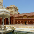 Karan Mahal and pond in the main courtyard of Juna...