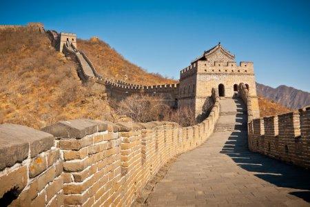 Photo pour Grande tour murale restaurée à Mutianyu, près de Pékin, Chine - image libre de droit