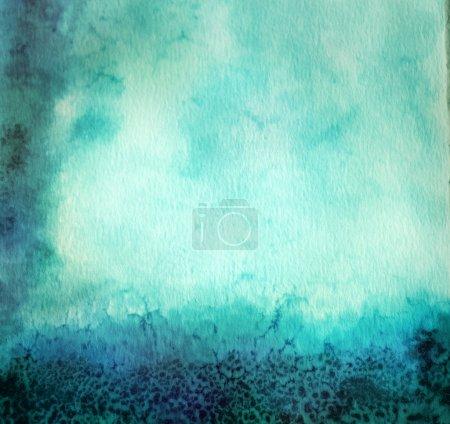 Photo pour Bleu Vintage fond aquarelle - image libre de droit