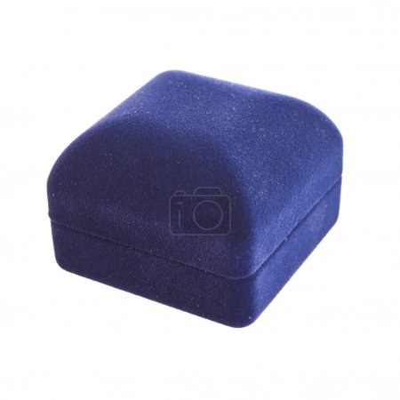 closed blue jewelry box
