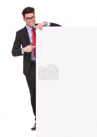 pointing at an empty board