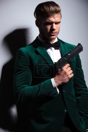 young man James Bond asassin
