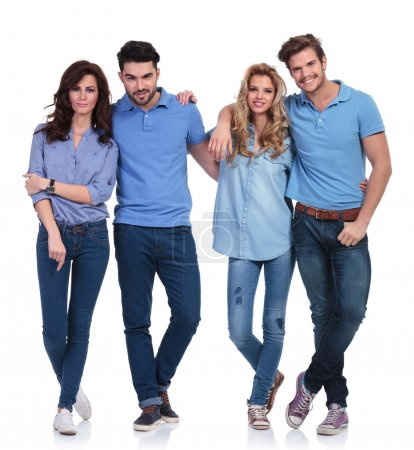 Small group of casual young peolple standing together