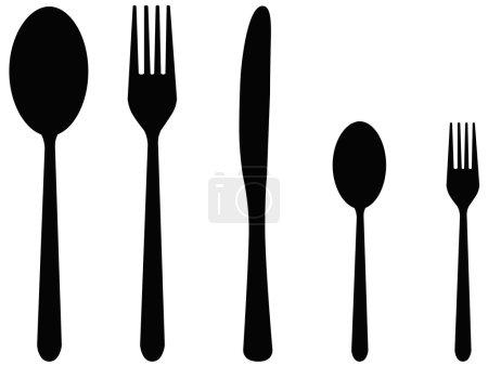 Five cutlery