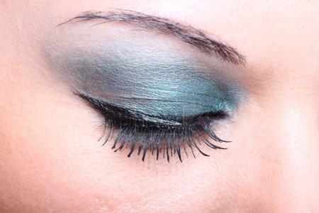 closeup woman eye