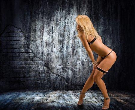 Portrait of sexy woman in underwear