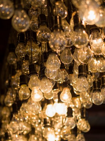 Lighting decor bulbs hanging