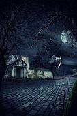 abandoned haunted house
