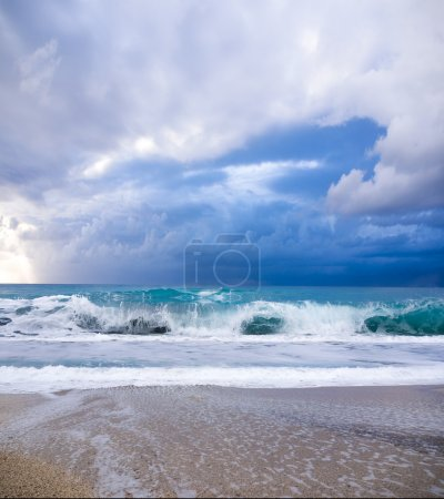 Photo for Thunder Storm at the beach - Royalty Free Image