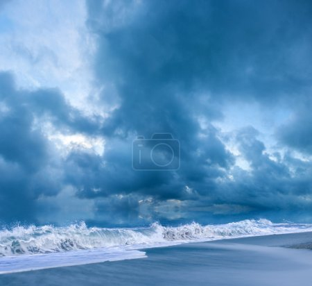 Photo for Beach on a stormy evening - Royalty Free Image