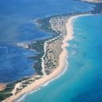 Chalikounas beach in Corfu Greece view from the ai...