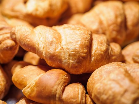 Photo for Closeup of croissants for breakfast - Royalty Free Image