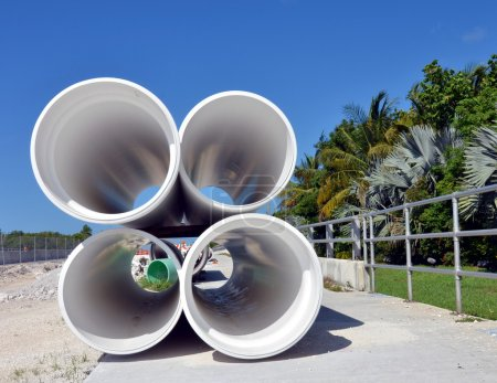 Large PVC plastic pipes