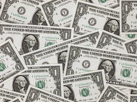US One Dollar Bill Background