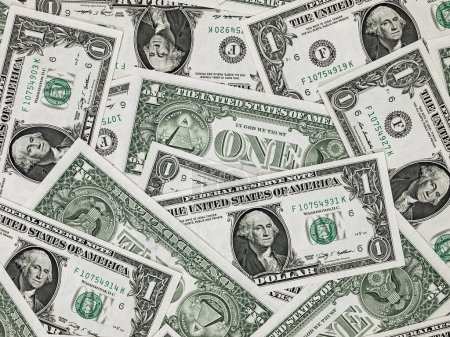 US One Dollar Bill Background