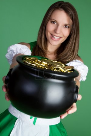 Photo for Pot of Gold Woman - Royalty Free Image