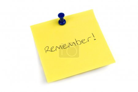 Remember Post It Note