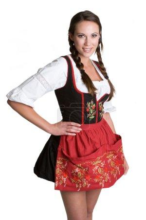 Photo pour Femme portant Dirndl - image libre de droit