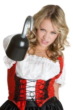 Mädchen im Piratenkostüm
