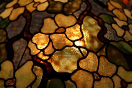Foto de Flores de vidrio iluminado detrás de colorido - Imagen libre de derechos