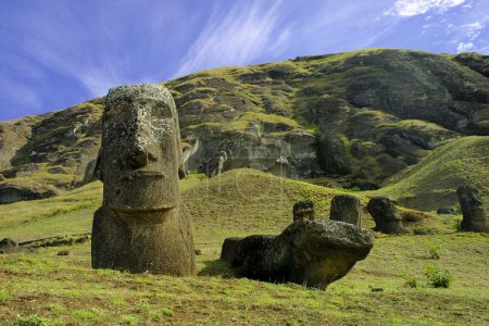 Moais at Easter island, Pacific.