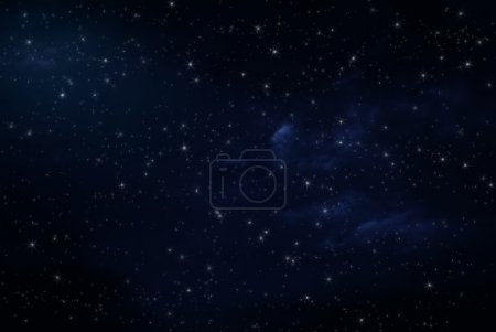 Photo for Night sky with stars and clouds - Royalty Free Image