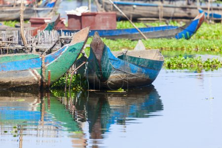 Cambodian paddleboats