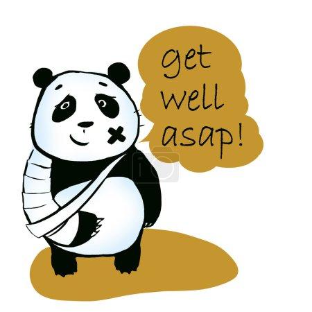 sick panda bear