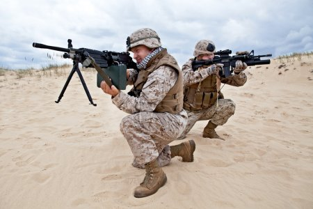 US marines in action