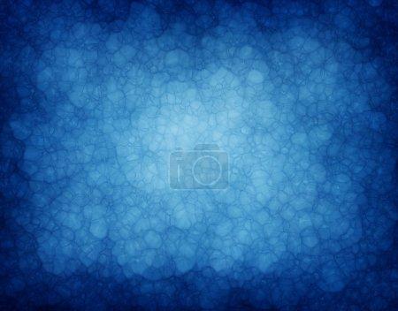 Photo pour Fond bleu abstrait ou papier bleu avec texture d'arrière-plan grunge vintage de point central lumineux vitreux et bords noirs pour la conception de mise en page de fond de brochure ou de modèle Web - image libre de droit