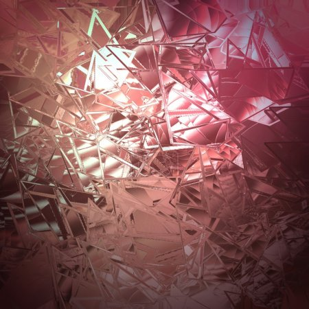 abstract pink background shattered glass with white beautiful background light texture has sharp jagged pieces of broken glass illustration