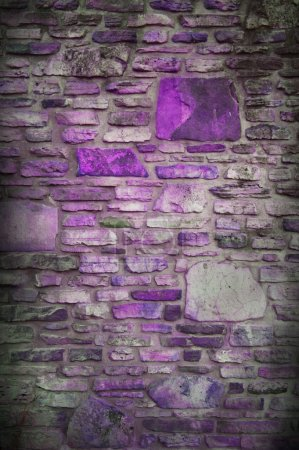 Abstract purple block stone wall background with dark edges and white center, classy light purple background for website or brochure, elegant luxury style background for ad or poster design layout