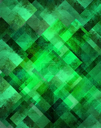 Abstract green background geometric diamond shape pattern with sparkly glitter style