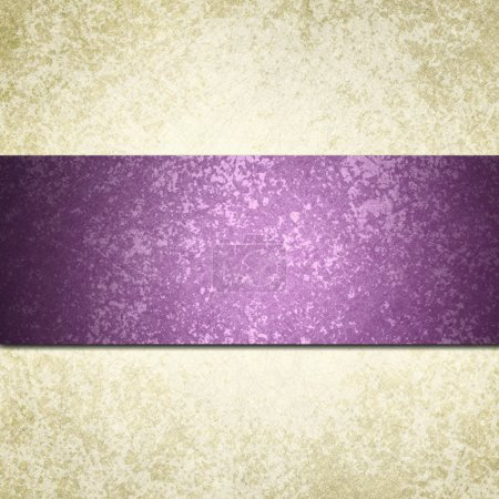 White background paper with purple striped ribbon