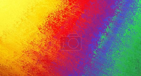 Photo for Abstract colorful background, rainbow colors of yellow red orange blue purple green in streaky messy pattern of vintage grunge background texture retro design, tie dye background or web design banner - Royalty Free Image