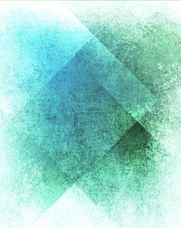 Photo pour Fond bleu abstrait ou fond vert, papier blanc avec vieux parchemin art fond conception de bloc de mise en page sur papier avec texture de fond grunge vintage, élégant papier bleu vert pour la conception web - image libre de droit