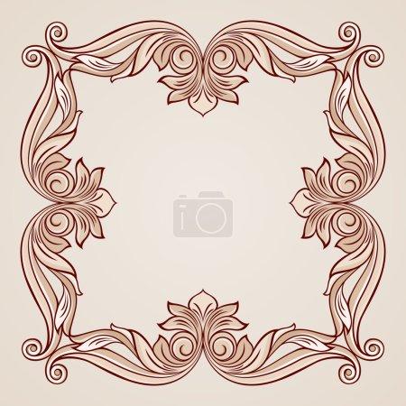 Photo pour Cadre floral abstrait dans des tons rose pastel - image libre de droit