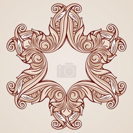 Photo pour Motif décoré avec des éléments floraux dans des tons rose pastel - image libre de droit