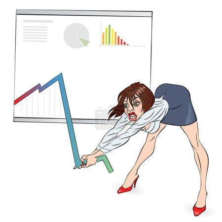 Businesswoman corrects schedule