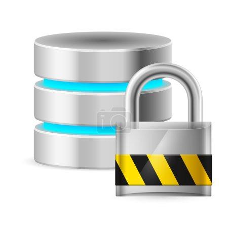 Database icon off. Illustration on white background for design