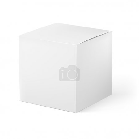 White box. Illustration on white background for creative design