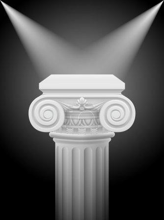 Classic ionic column