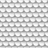 Abstract background with roof tile pattern in white color.