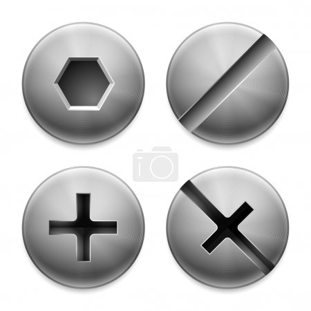 Four types of bolts.
