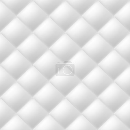Illustration for Abstract soft textured background with squares in white. Close-up view. - Royalty Free Image
