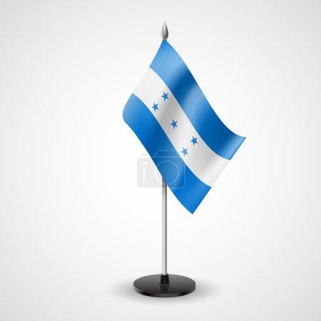 Table flag of Honduras